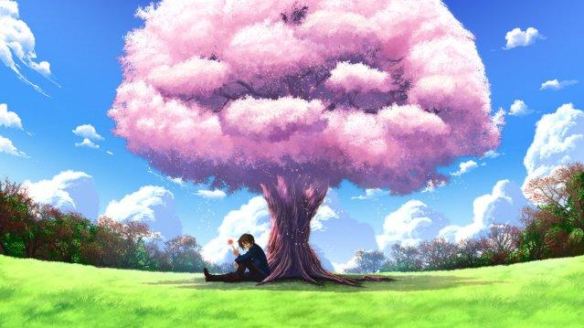 itsuki_koizumi_under_a_sakura_tree_by_lelouchbrittania-d4rqmnc